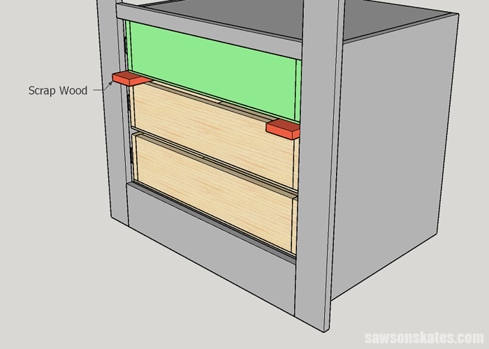 Installing a DIY drawer in the top of a builtin cabinet