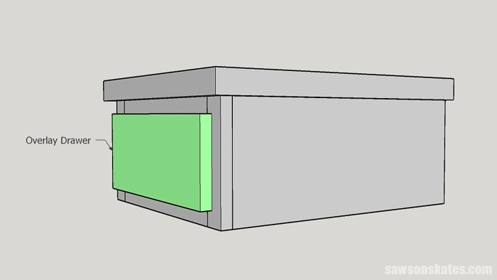 Overlay drawer construction