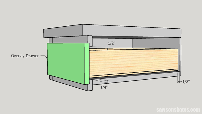 How to build a drawer with an inset drawer front