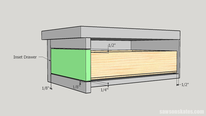 How to build a drawer with an overlay drawer front