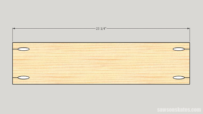 Cutting the front and back for a drawer box
