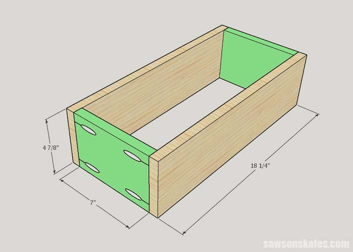 Building the drawers for the litter box enclosure