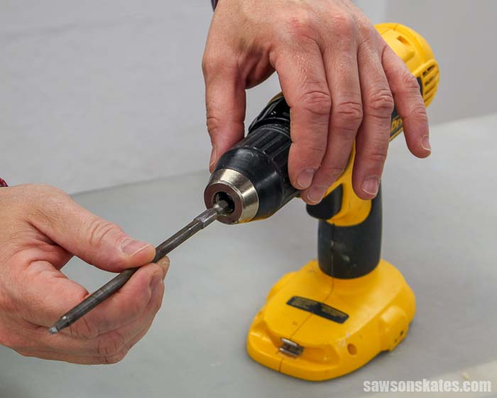 A drill is a great starter power tool for beginner woodworkers.