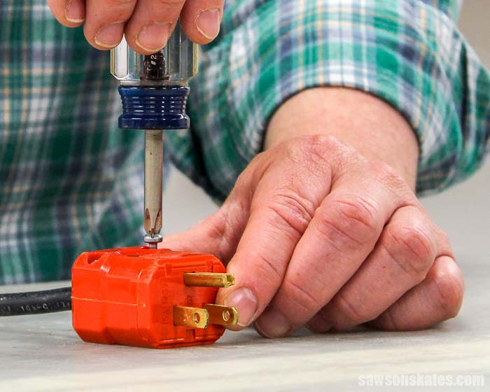 Learn how to wire a plug! I'll show you step by step how to wire a 2 prong plug and how to wire a 3 prong plug. Wiring a plug is simple. You CAN do this!