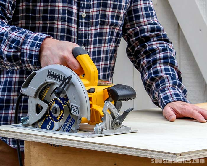 Learn how to use your circular saw to make laser-accurate straight cuts! Here are four sure-fire ways to cut precise straight lines on boards and plywood!