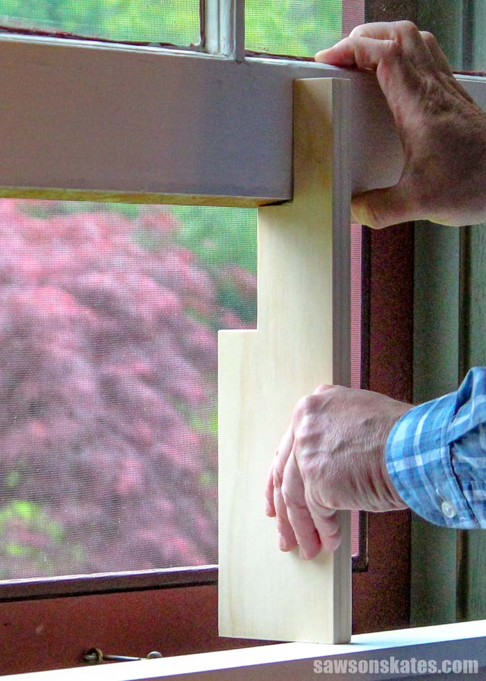 Window won't stay up? Here's the easy fix for a window that won't stay open. Make a cheap DIY window prop stick using simple tools and scrap wood!