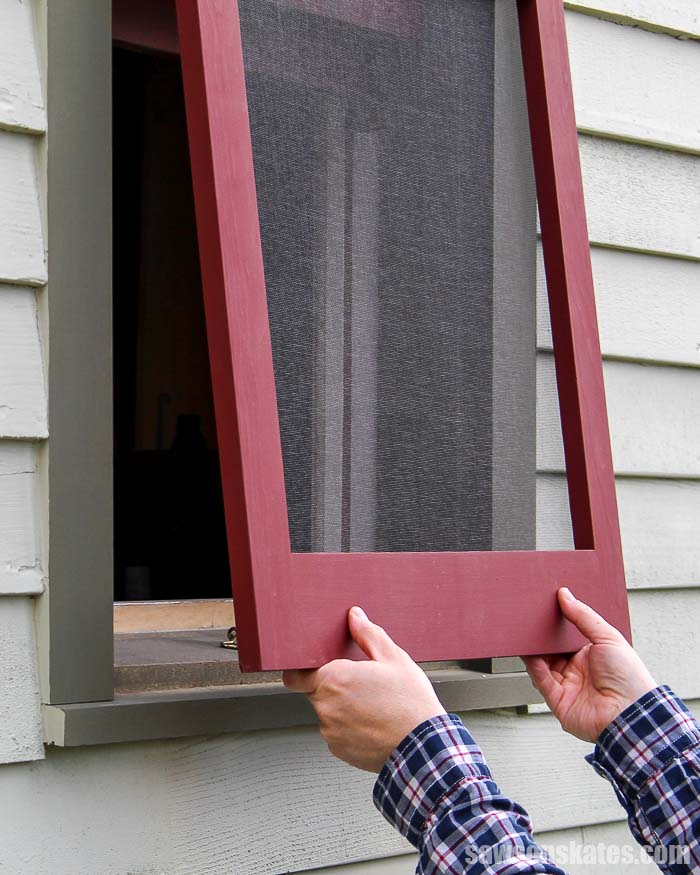 A wood window screen frame lets fresh air in, keep insects out and complements the look of historic homes. They're easy to DIY with a few simple tools!