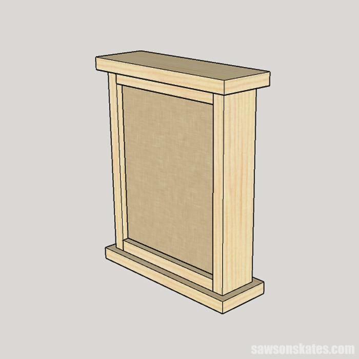 A sketch showing the simple way to assemble a DIY earring holder