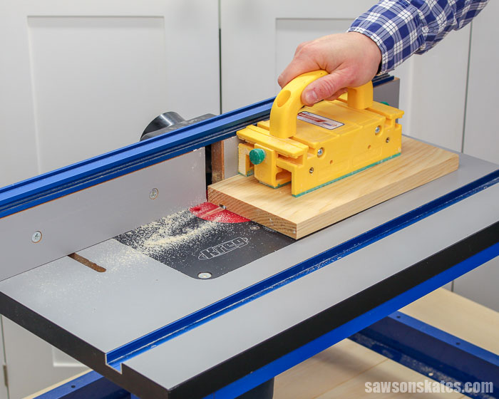 Learn how to use a router table in this beginner's guide for woodworkers. I'm sharing how to change a router bit, how to set the router table fence, and more.