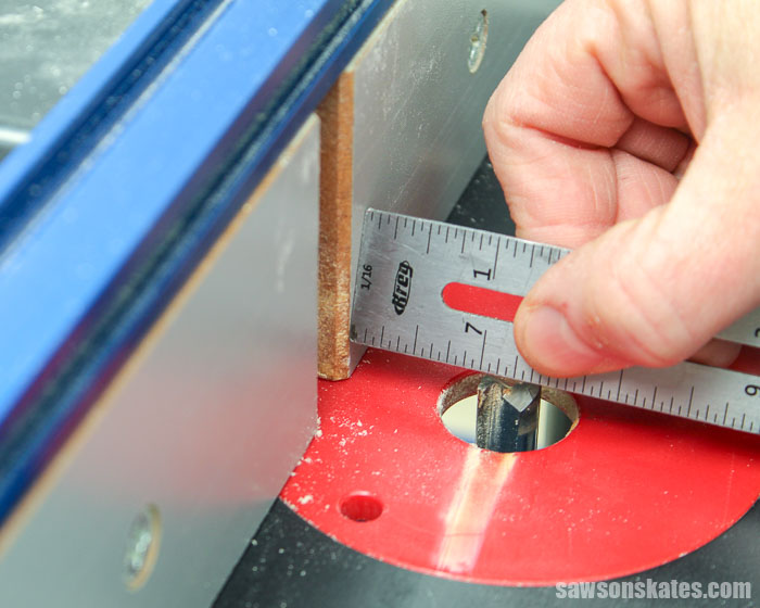 Adjusting the fence on a router table