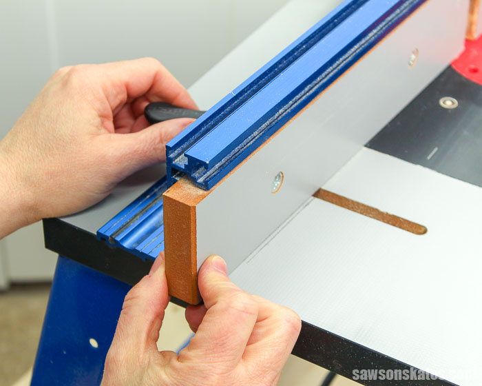 Fine tuning the fence on a router table