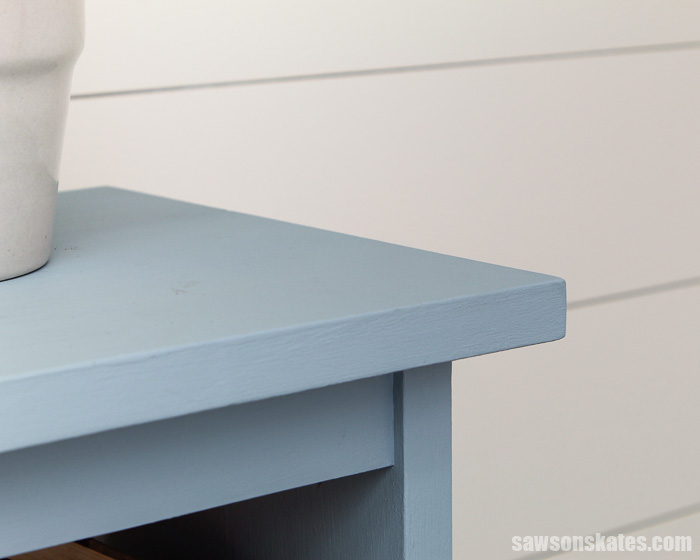 Top of a DIY side table