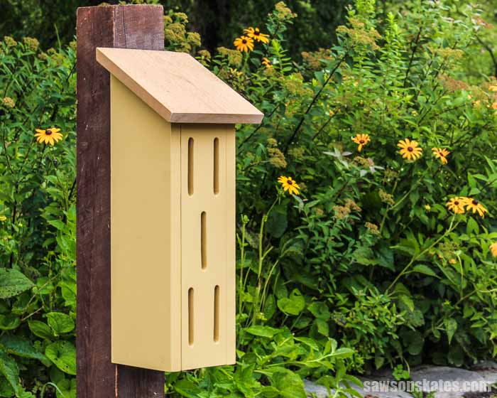 Add charm to your backyard or garden with a DIY butterfly house! It's easy to make with a few pieces of wood and these free step-by-step plans.