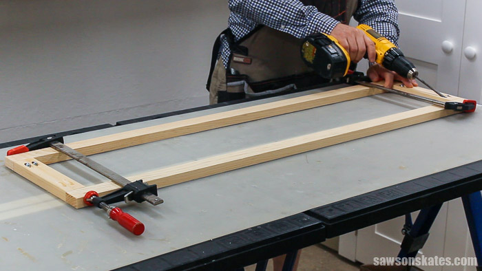 Joining the face frames for a DIY chimney cabinet