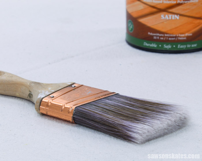 Brush used to apply a low odor polyurethane alternative