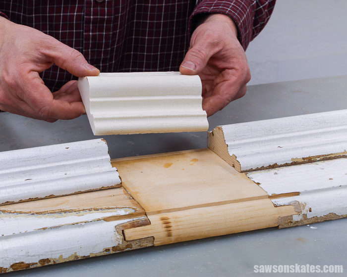 Have a piece of furniture with broken or missing molding? Don't throw it away. It's easy to reproduce a duplicate piece with this simple technique!