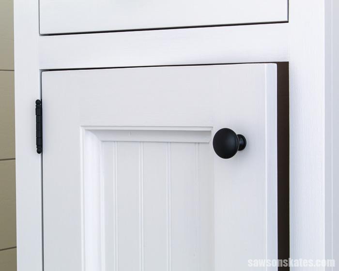 DIY cabinet door slightly open