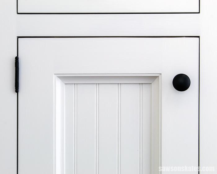 Front view of a DIY cabinet door