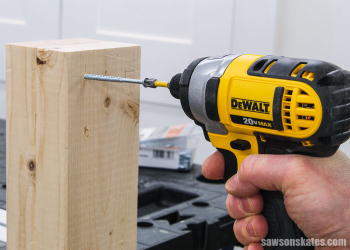 Driving a long screw with an impact driver