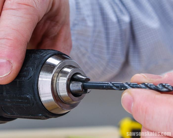 Putting a drill bit in a drill