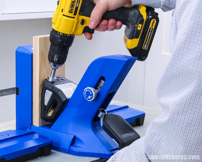 Learn how to use a Kreg Pocket Hole Jig 720. This quick start guide highlights the time-saving features and how to use the 720 to drill pocket holes.