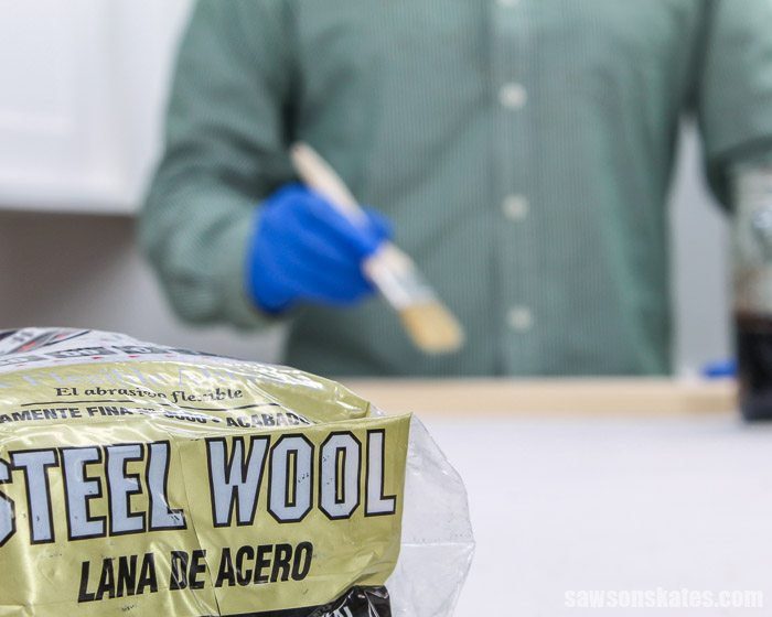 This steel wool and vinegar stain is easy to make, easy to apply, and instantly gives wood a deep, rich color. Make some now with this goof-proof recipe!