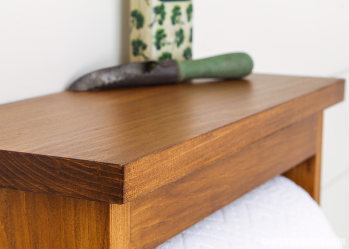Wood that has been finished with a stain and polyurethane in one