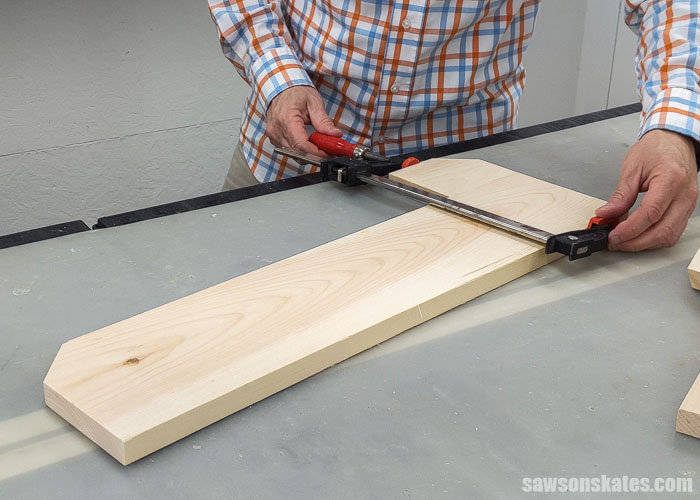Clamping the side of a DIY lawn tool storage rack