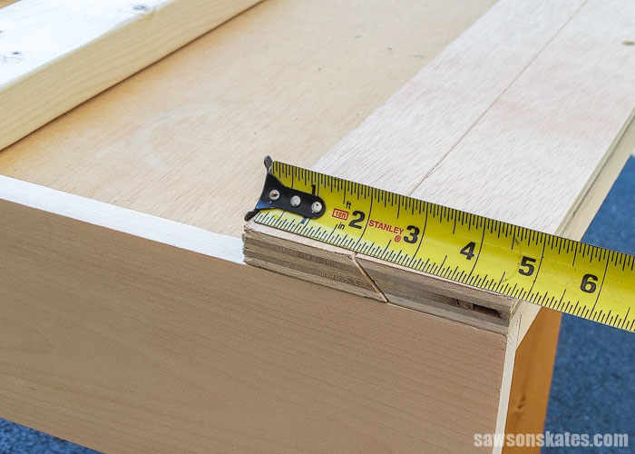 Measuring the height of a DIY french cleat