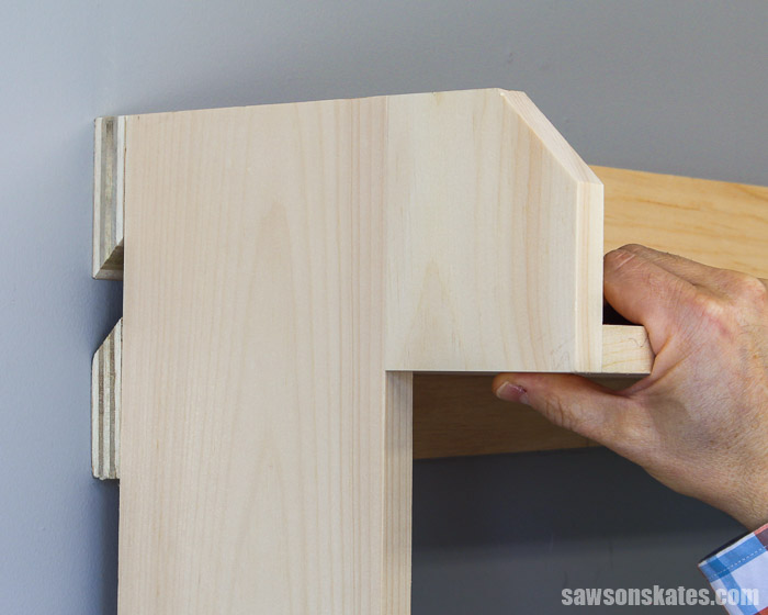A french cleat is a simple, strong way to hang heavy items on the wall. Learn what wood to use, what angle to cut, and two easy ways to make french cleats.